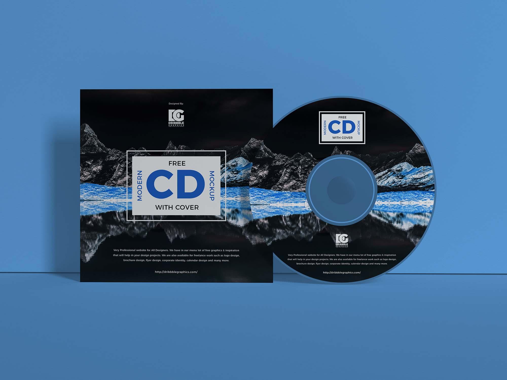 Branding CD Cover Mockup 2