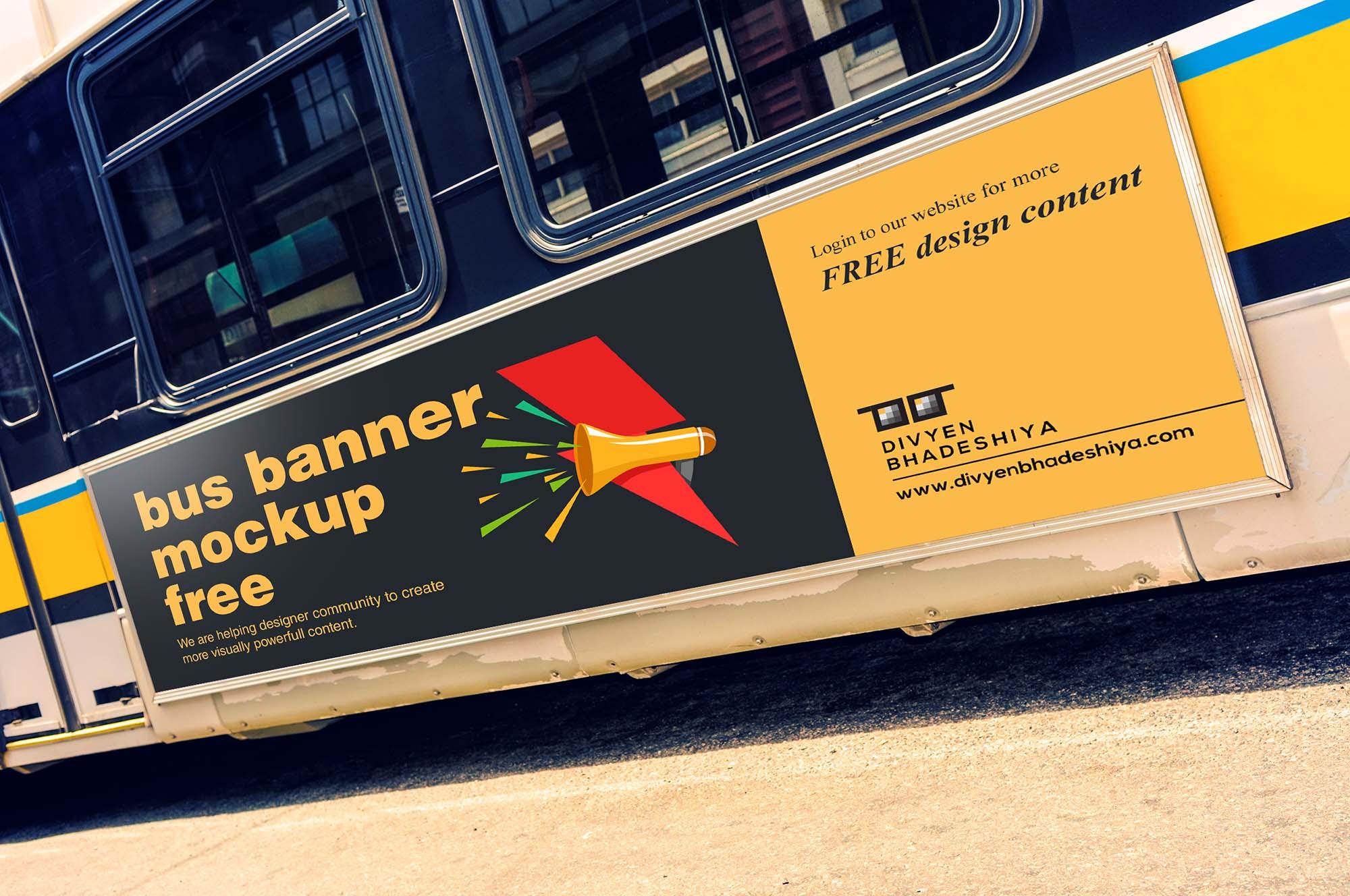 Bus Banner Mockup