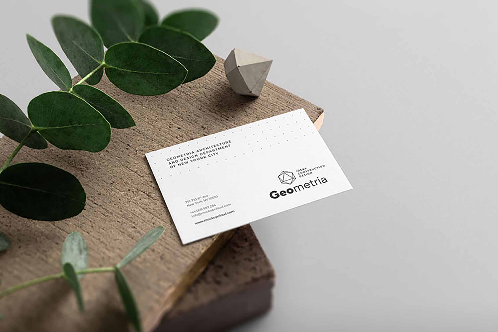 Business Card on Lumber Mockup