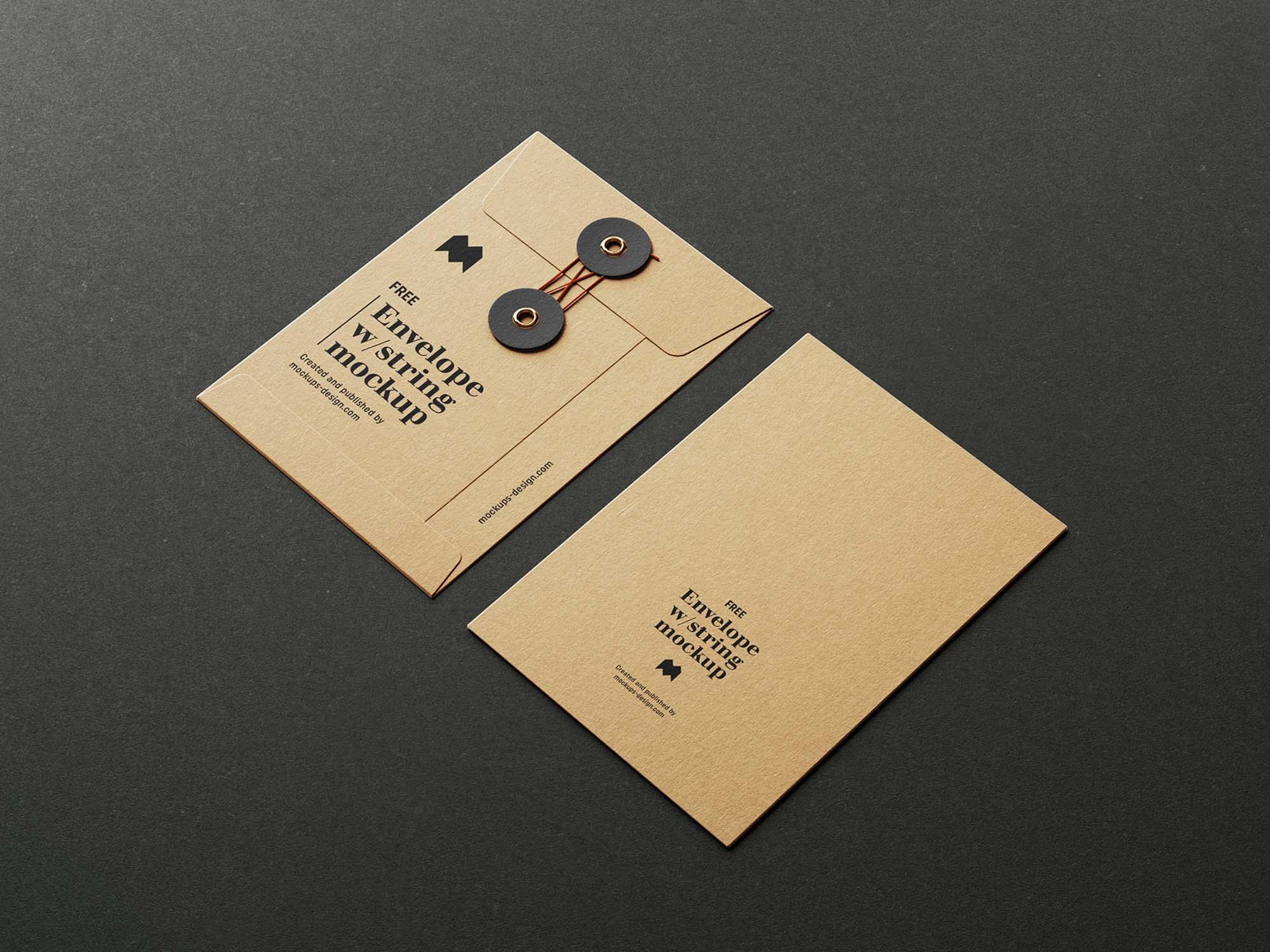 C6 Envelope with String Mockup 2
