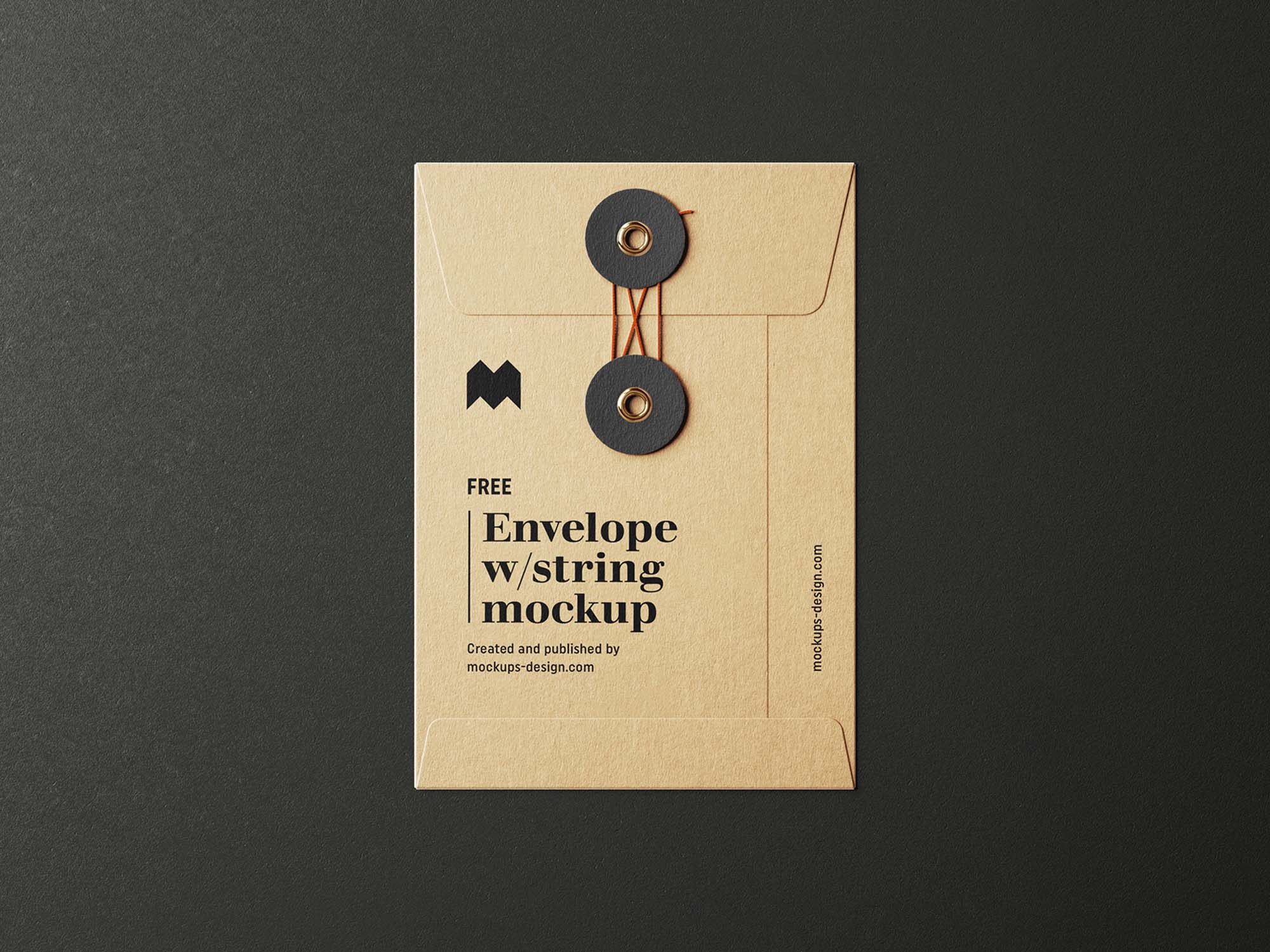 C6 Envelope with String Mockup 3