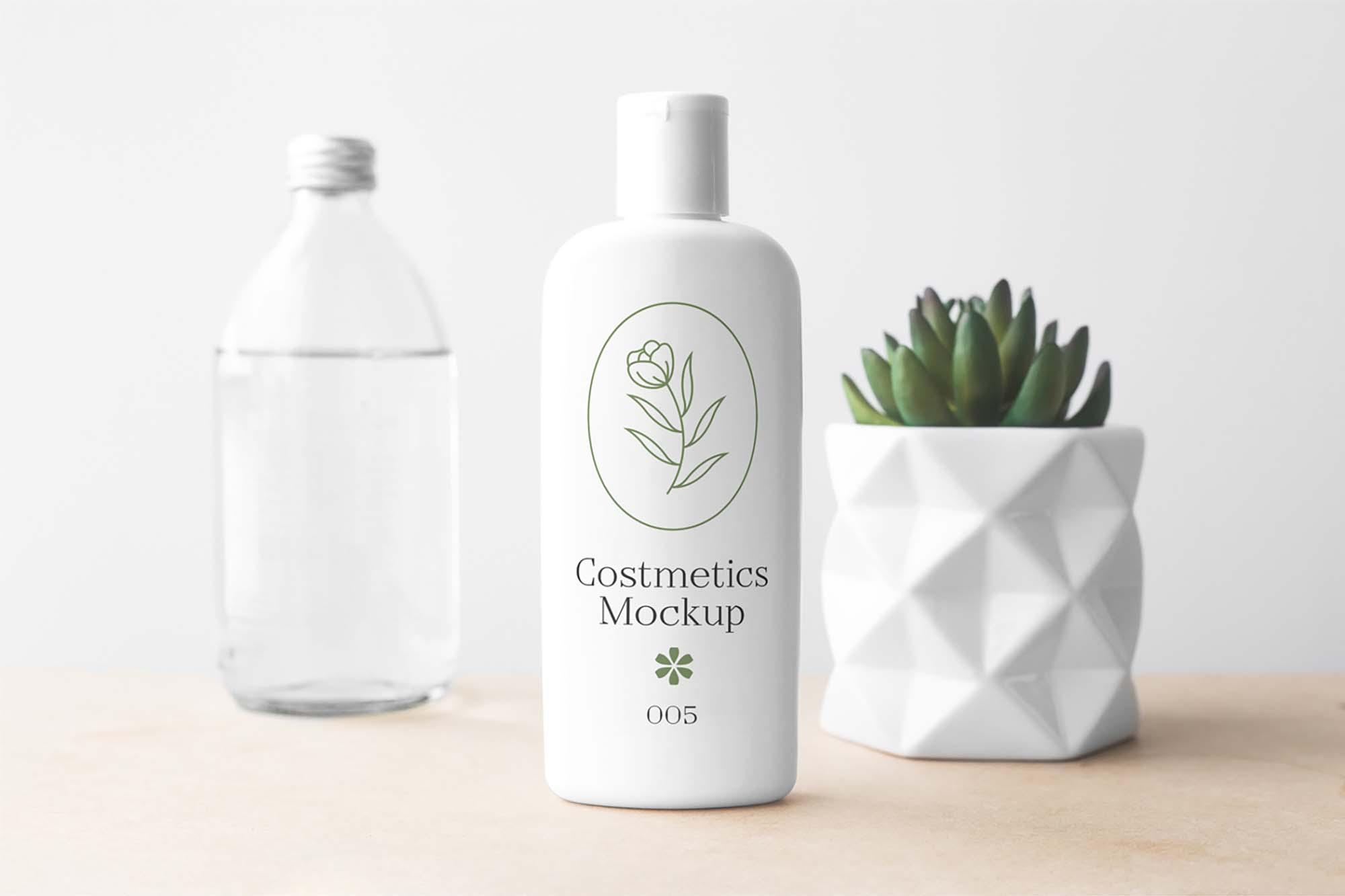 Cosmetics Bottle Mockup