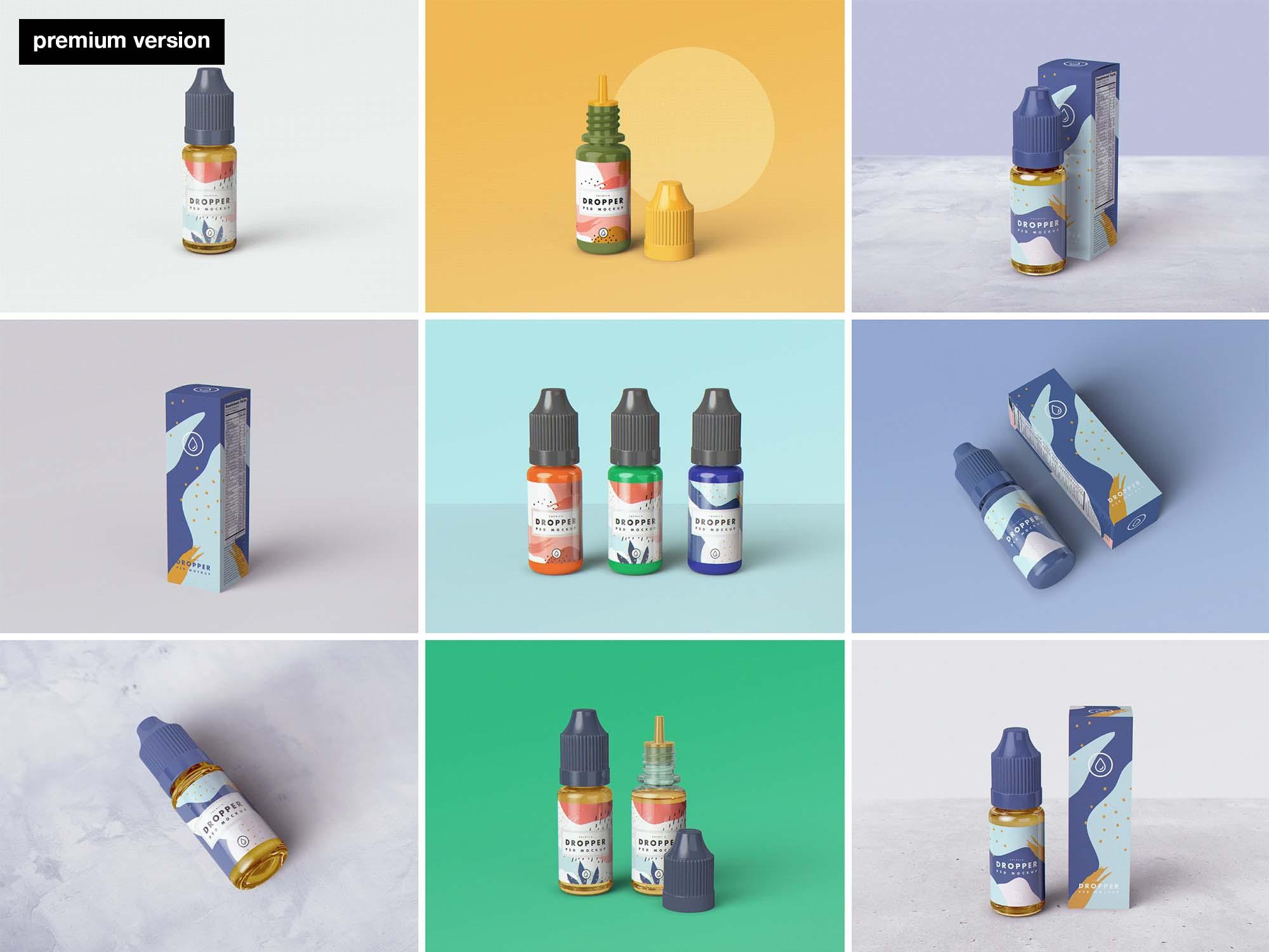 E-Juice Dropper Bottle Mockup - Premium Version