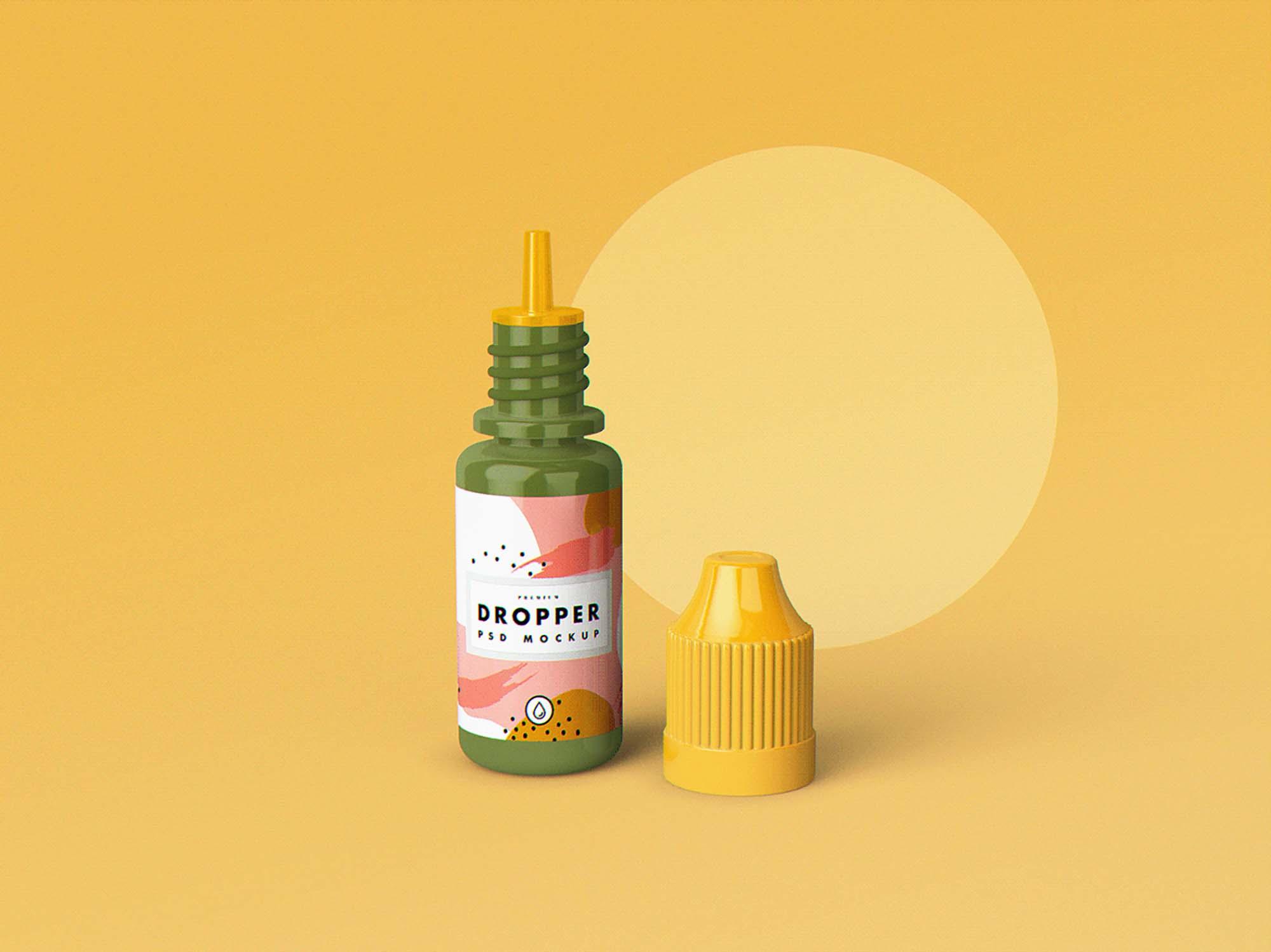 E-Juice Dropper Bottle Mockup