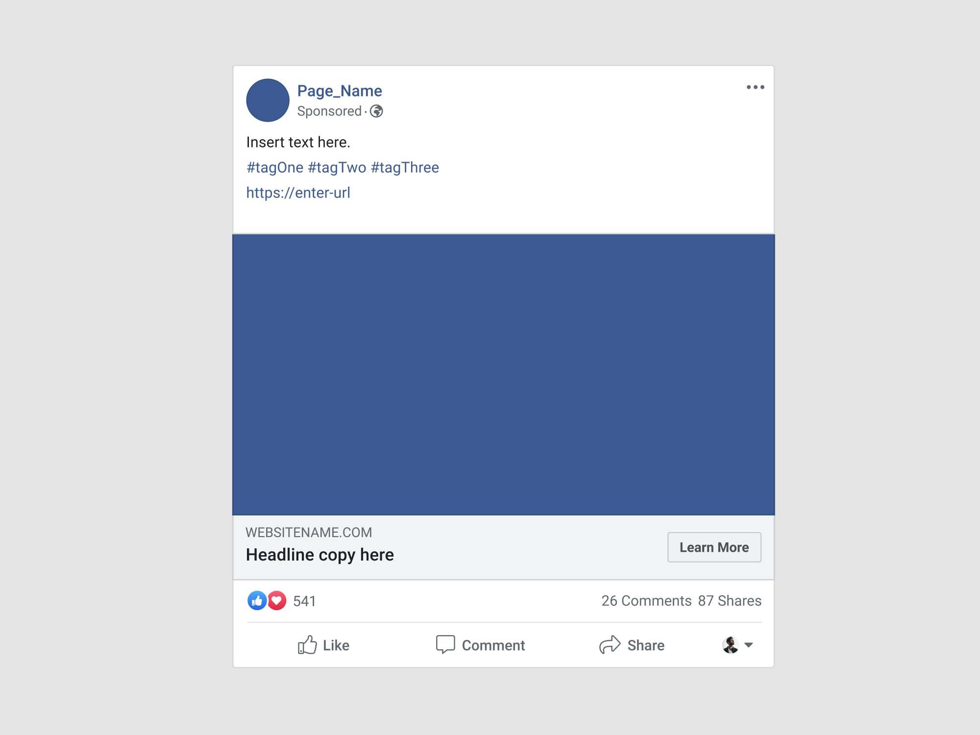 Facebook Advertisement Post Mockup Psd