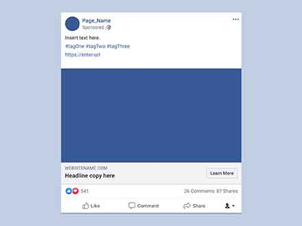 Facebook Advertisement Mockup