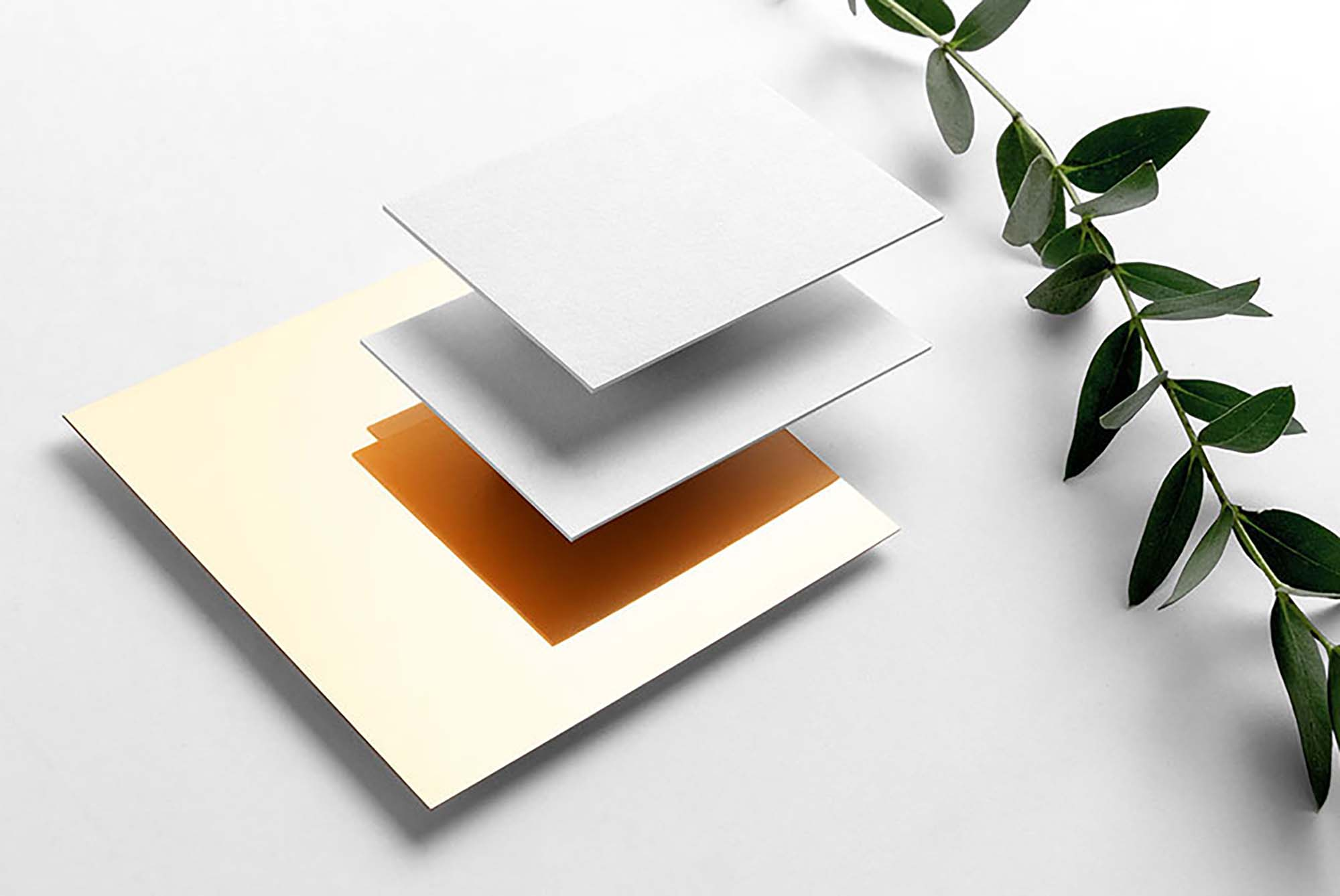 Floating Layered Business Card Mockup 2