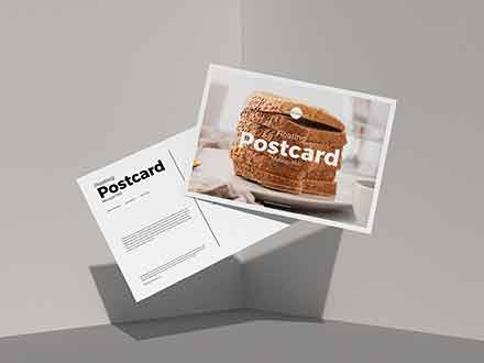 Floating Postcard Mockup