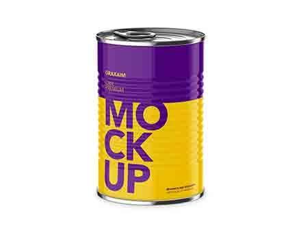 Food Tin Can Mockup
