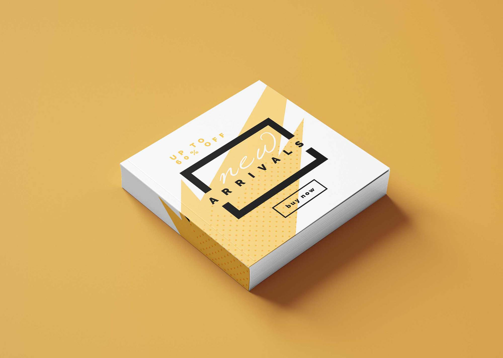 White Thin Small Box Mockup