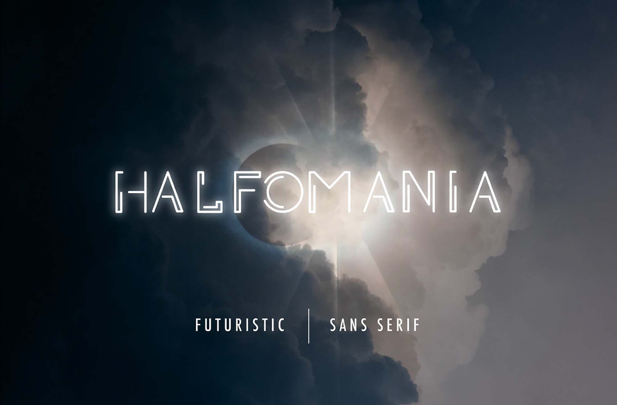 Halfomania Futuristic Font