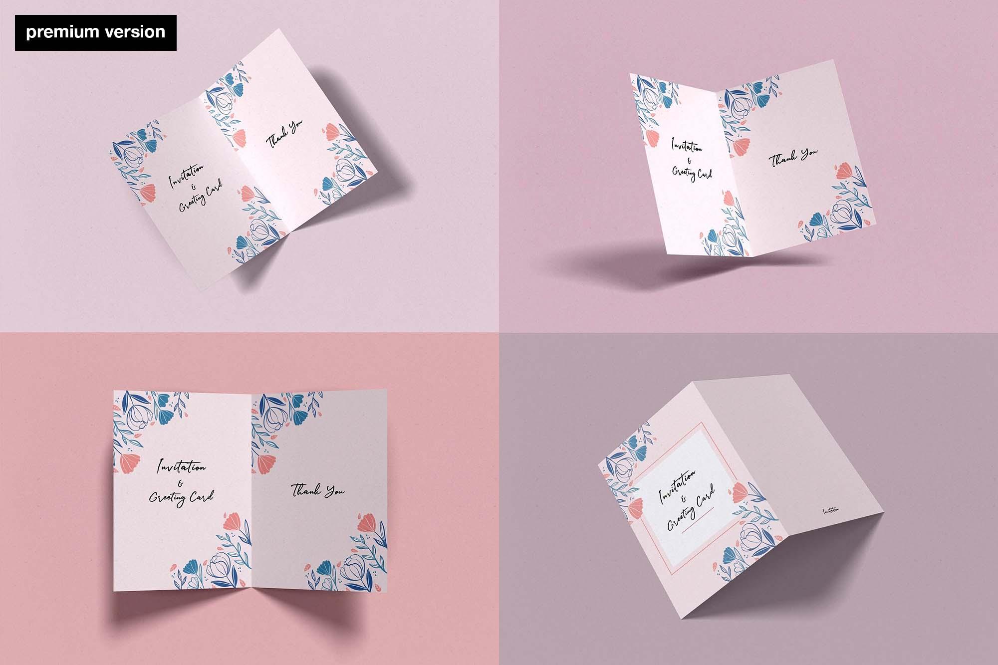 Invitation Card Mockup Premium Version