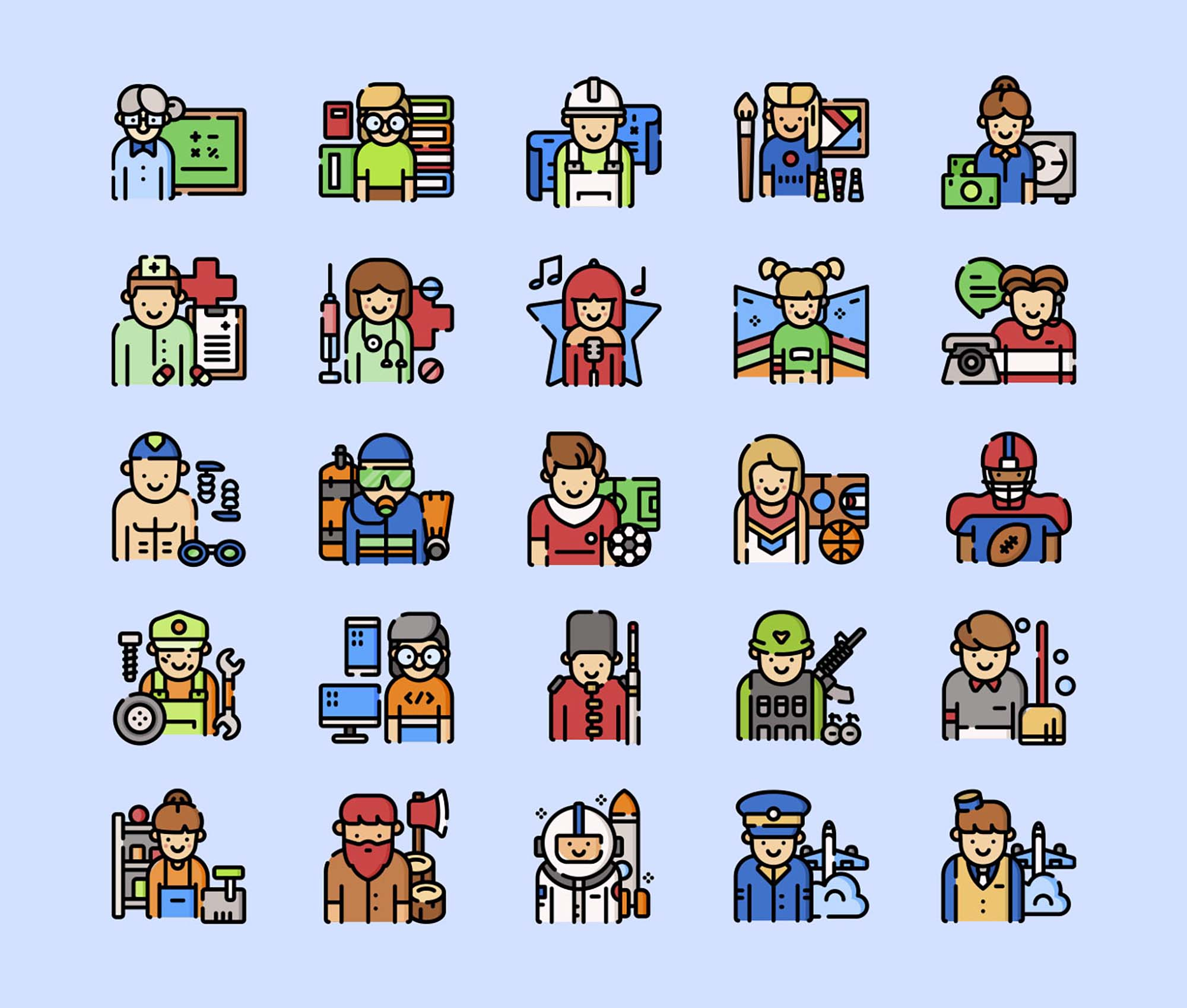 Jobs and Professions Icons 1