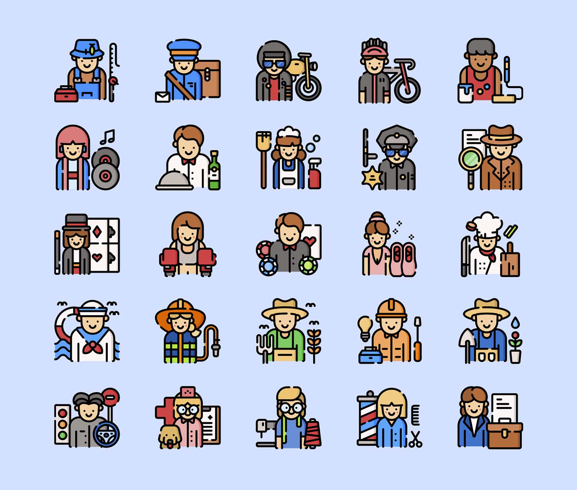 Jobs and Professions Icons 2