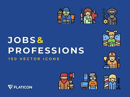Jobs and Professions Icons