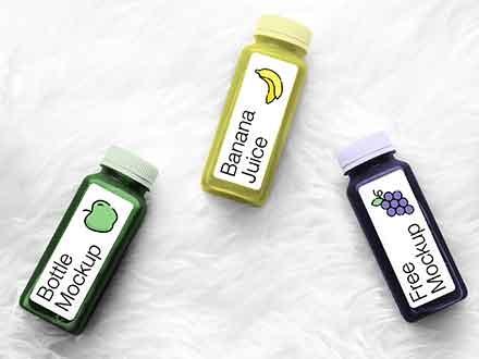 Juice Bottles Mockup