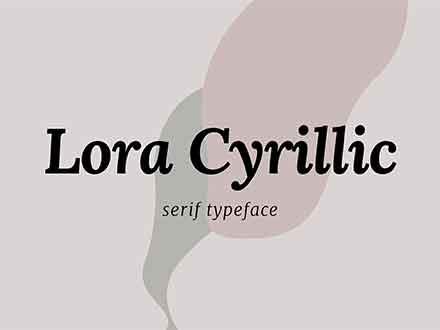 Lora Cyrillic Serif Font