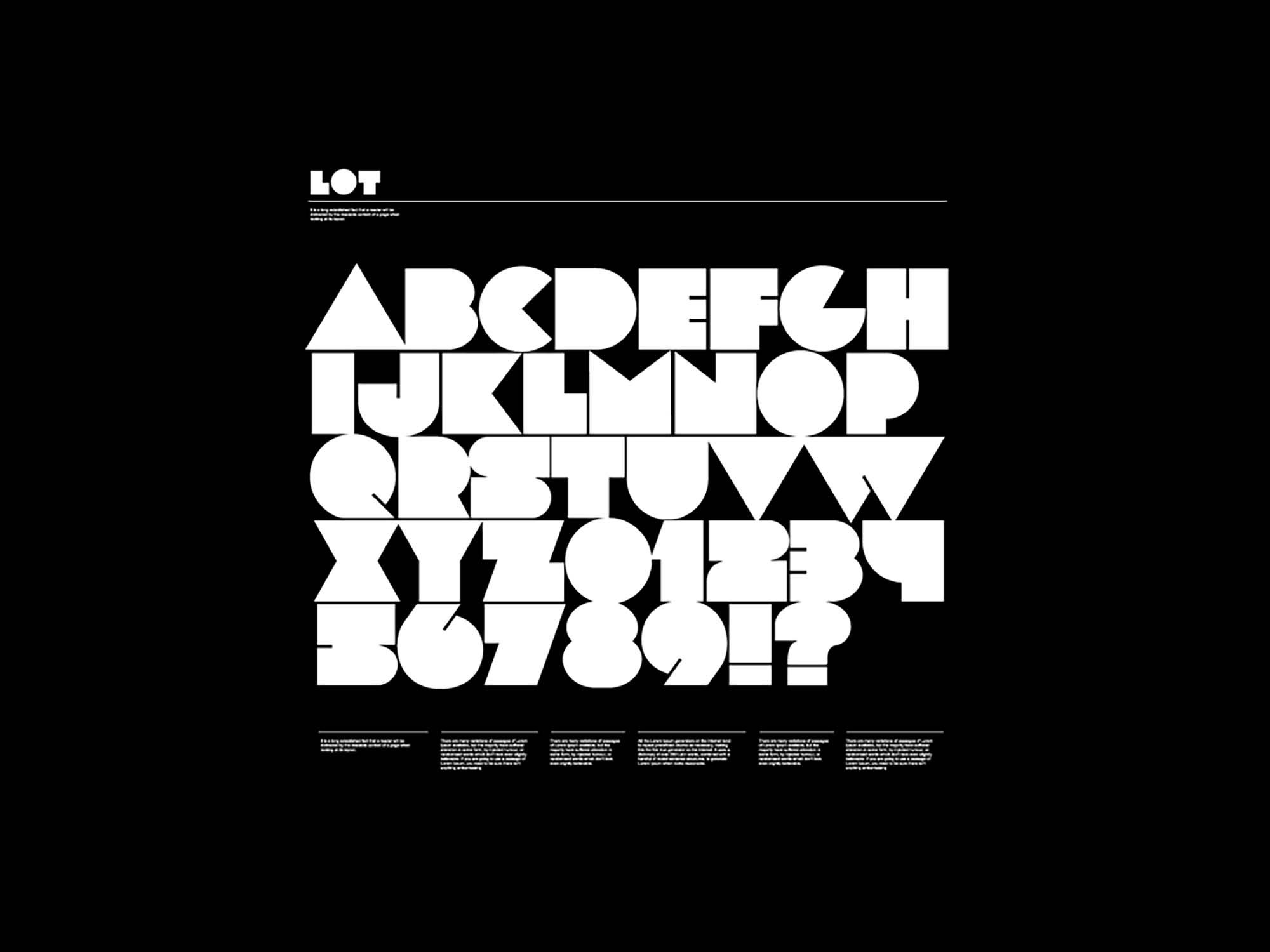 Lot Font Letters