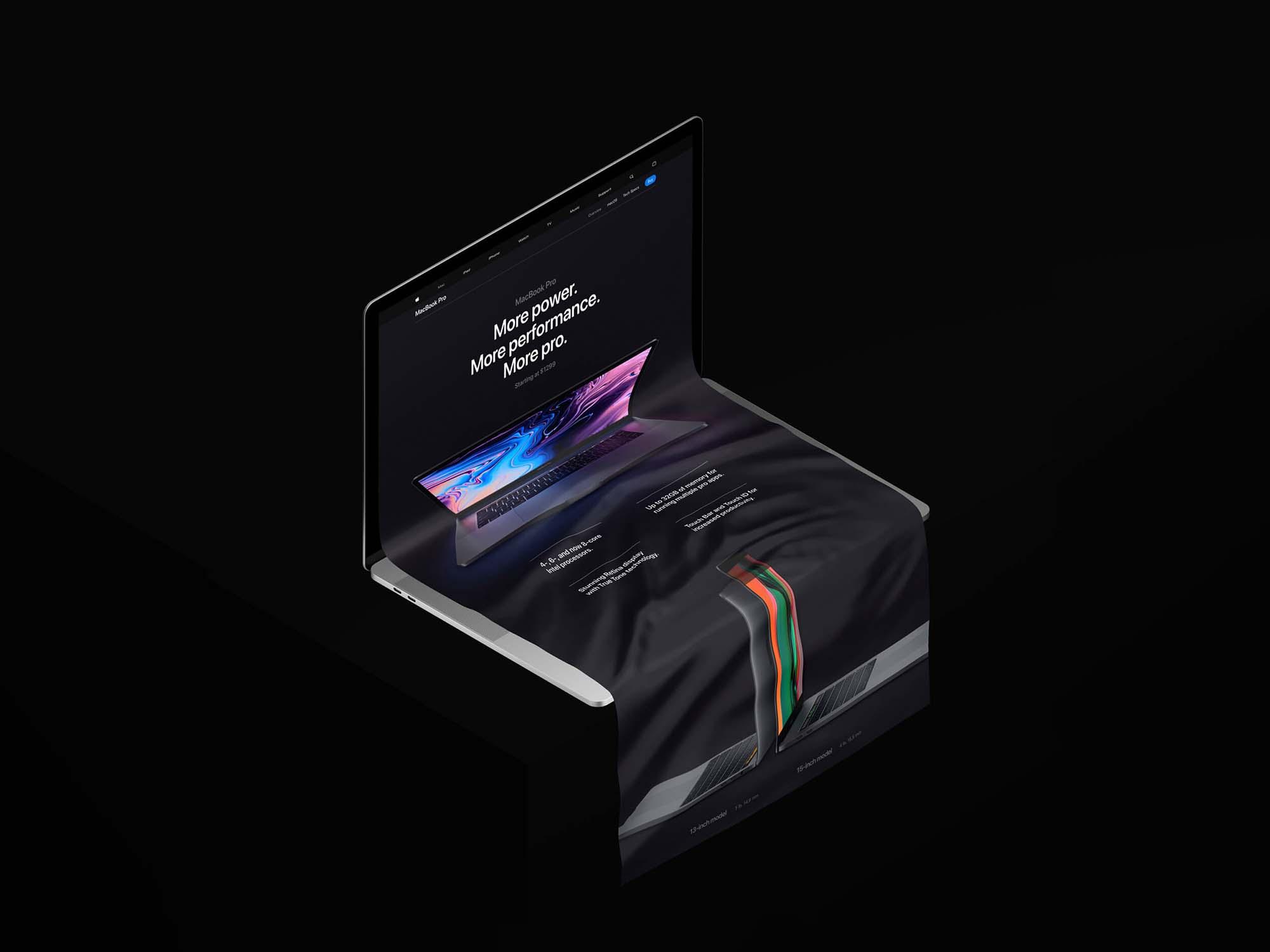 MacBook Long Scroll Mockup