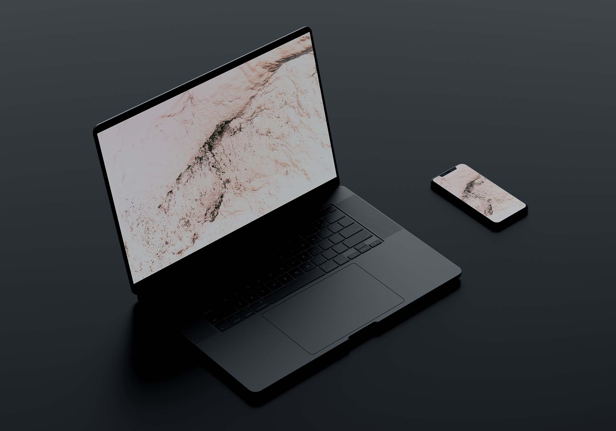 Macbook Pro with iPhone 11 Mockup 2