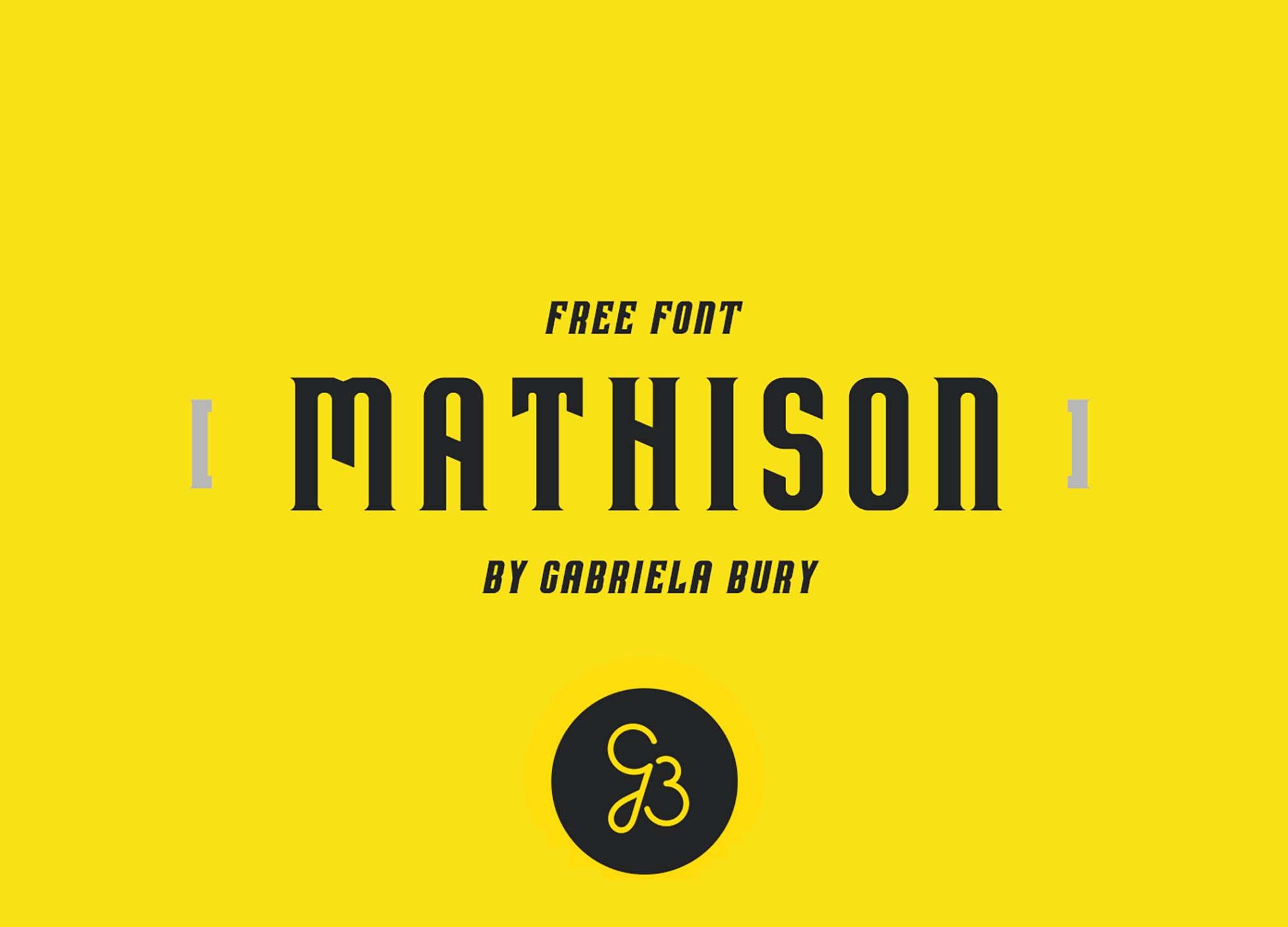 Mathison Display Font