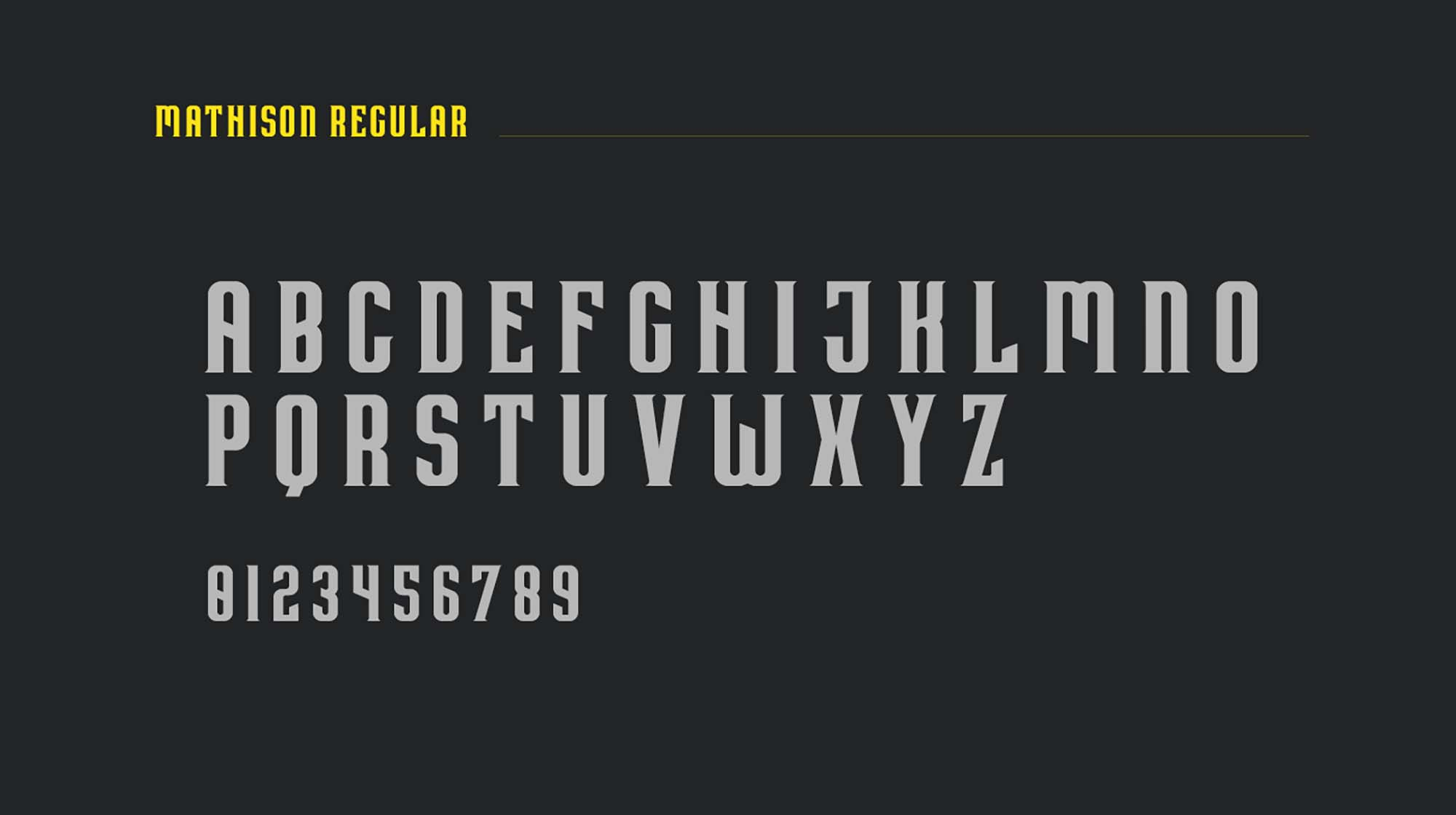 Mathison Display Font 2