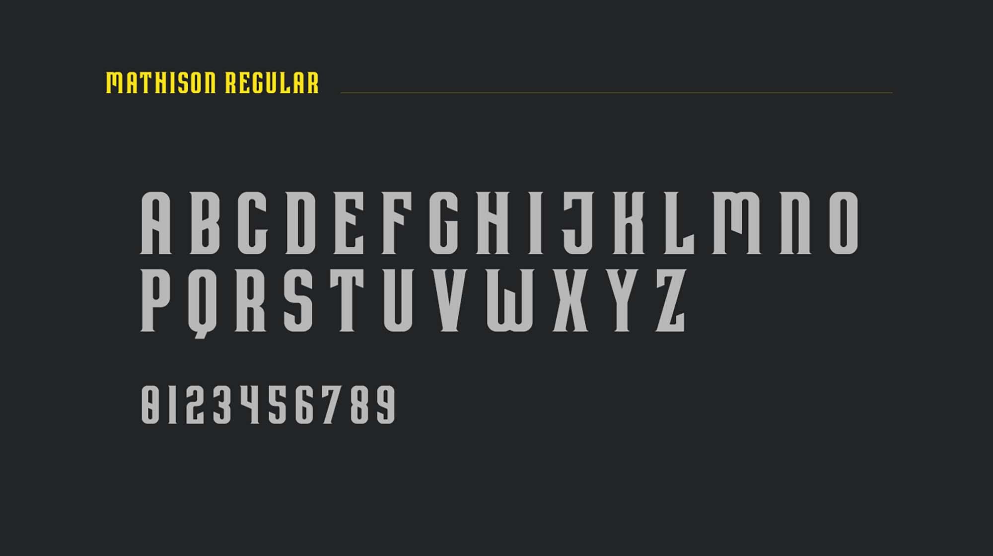 Mathison Display Font 2