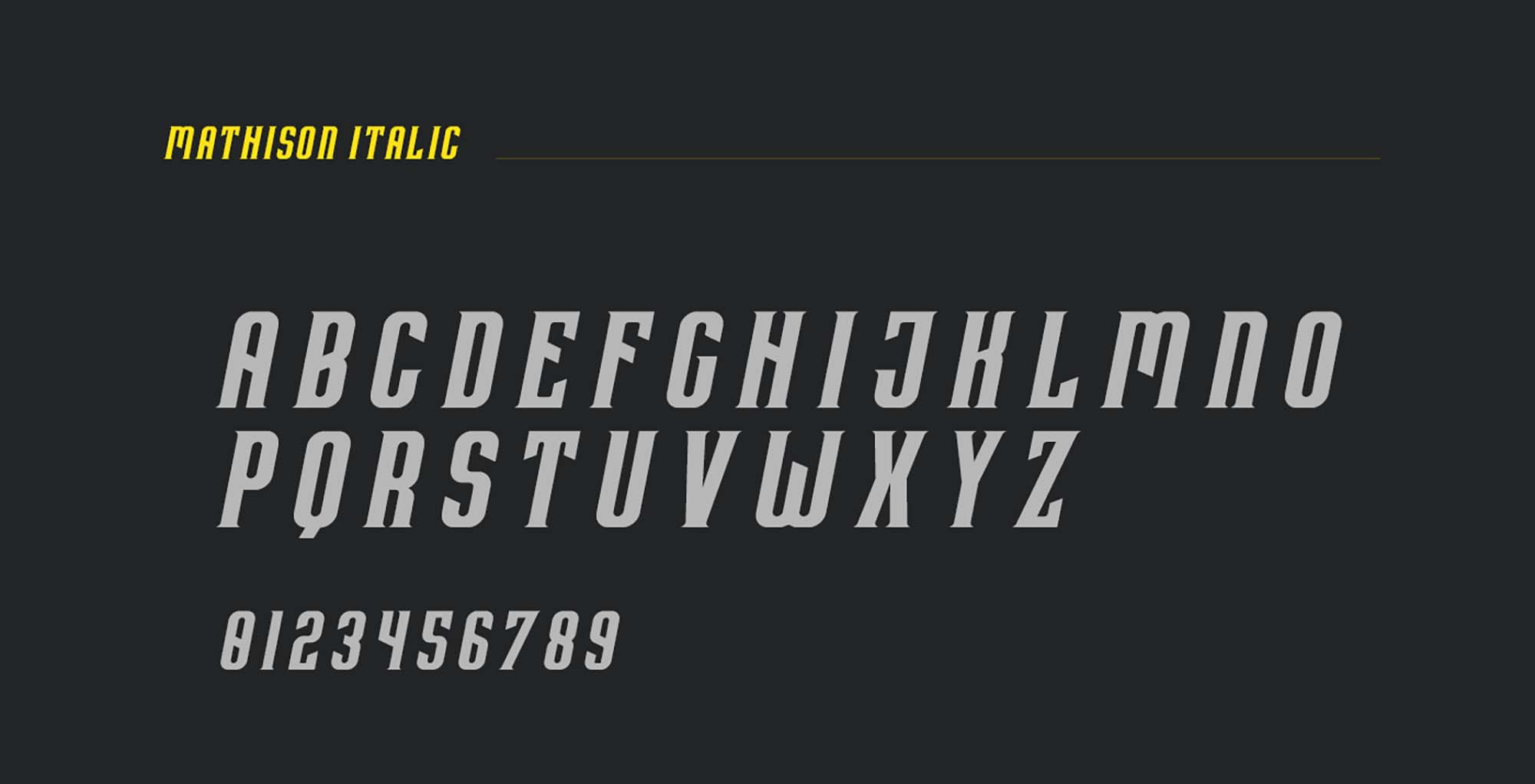 Mathison Display Font 4