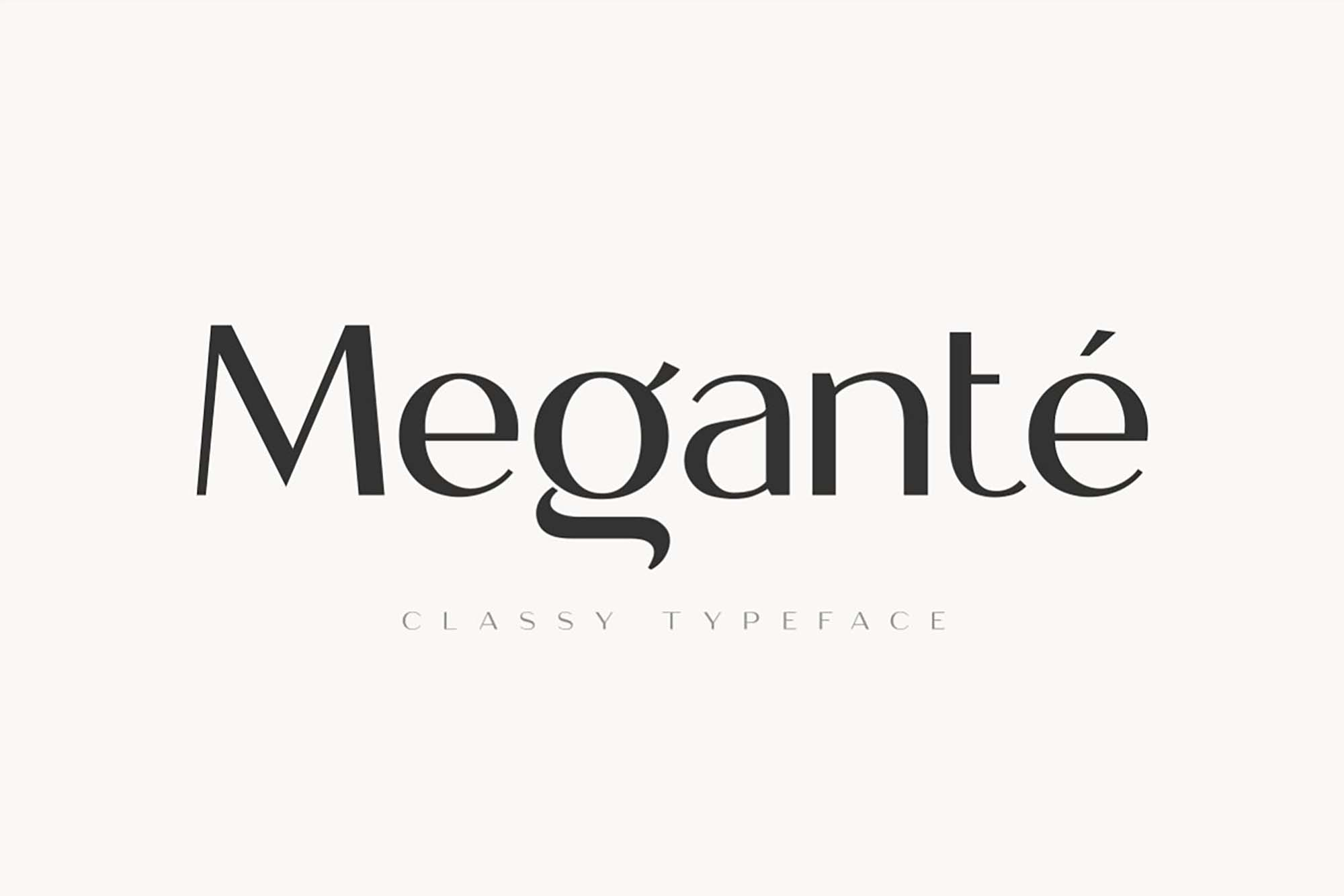 Megante Display Font 7