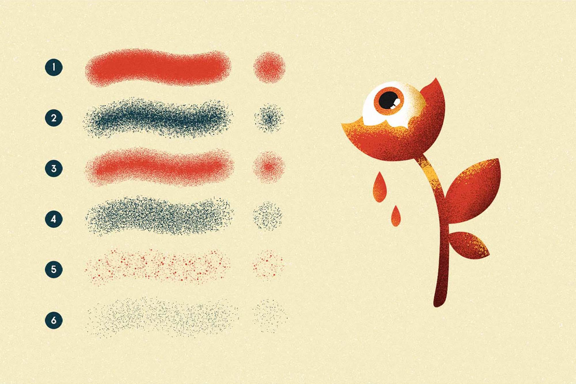 Memento Shader Illustrator Brushes 1