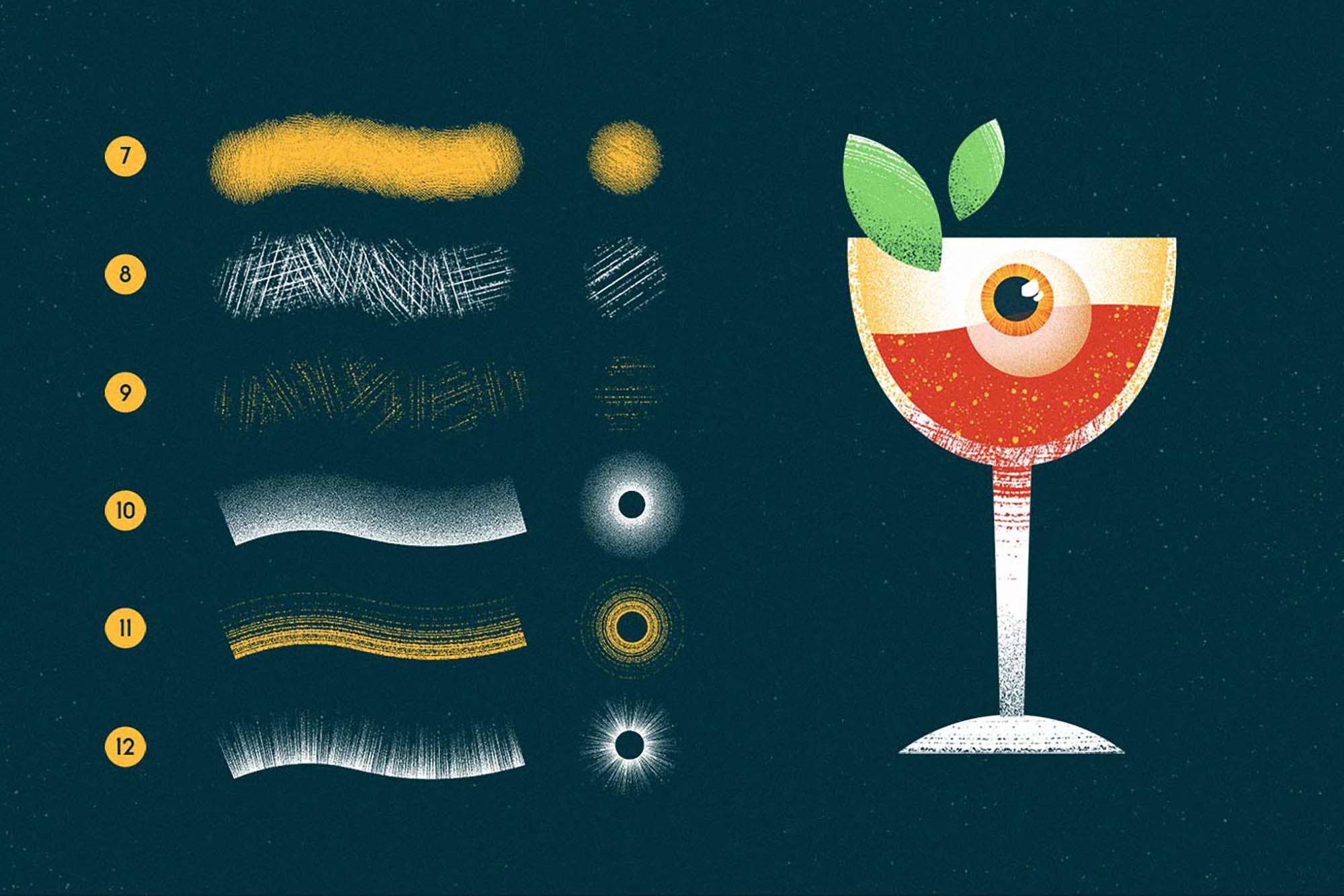 Memento Shader Illustrator Brushes 2