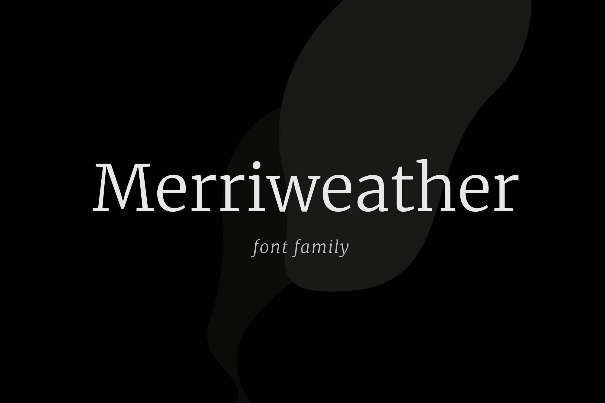Merriweather Serif Typeface
