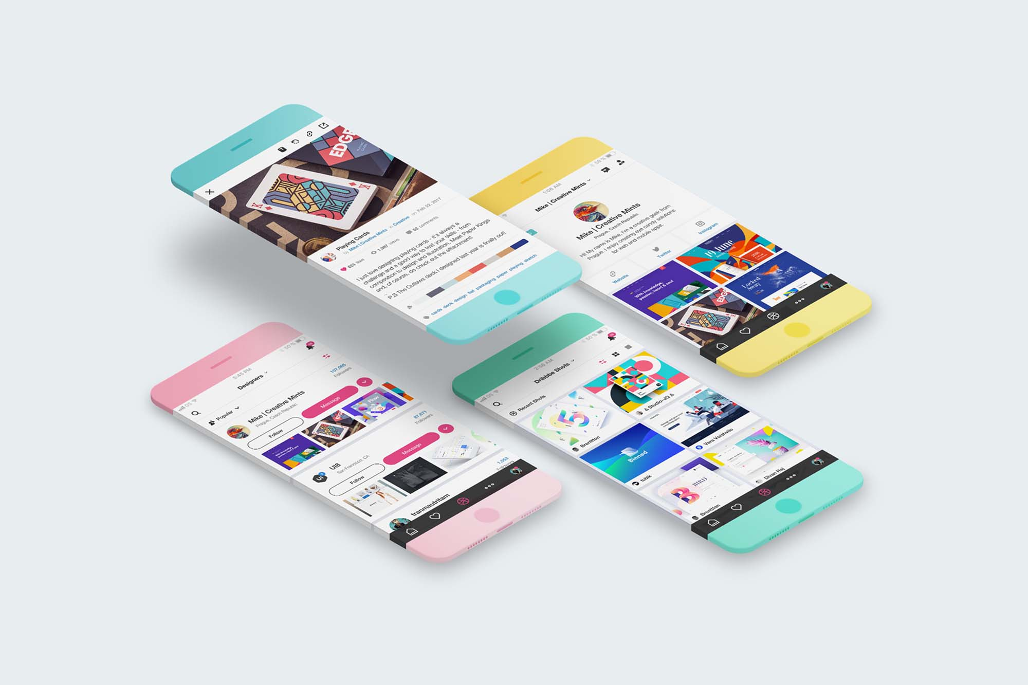 Minimalistic Phone Mockup 2