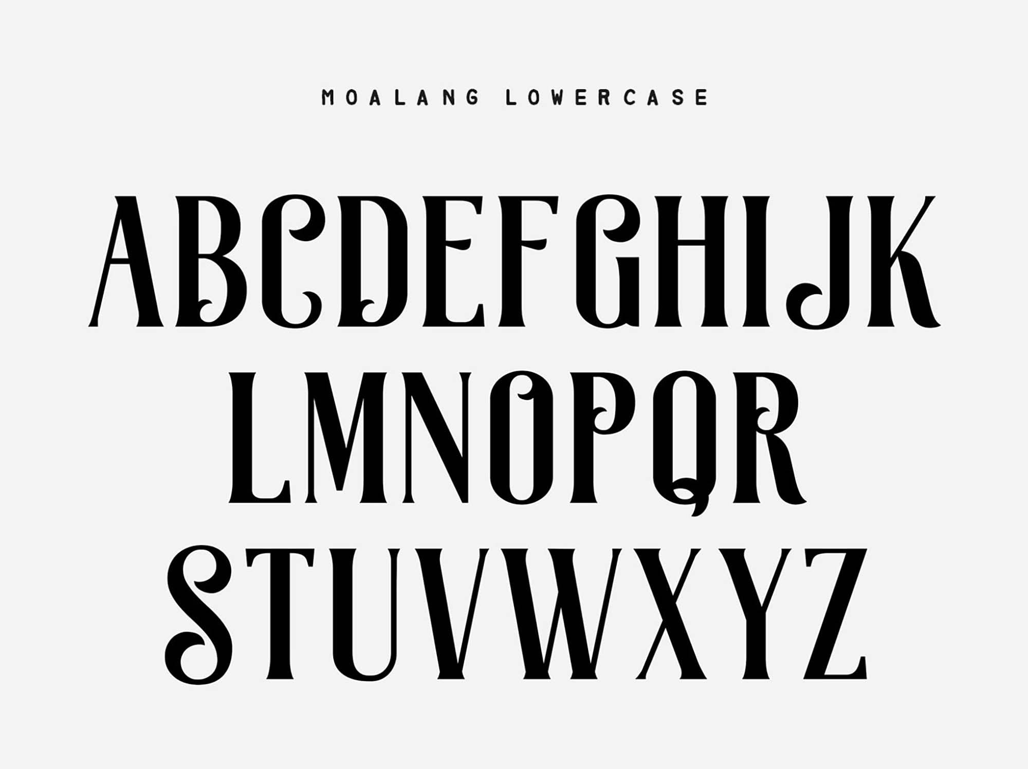 Moalang Display Font Lowercase