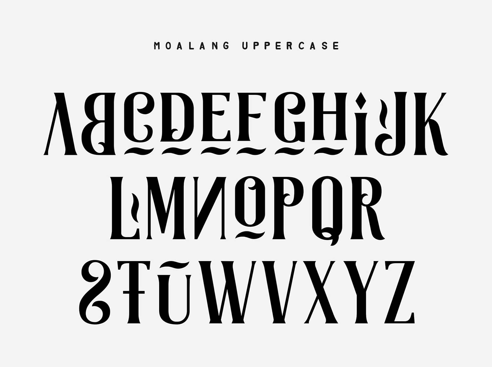 Moalang Display Font Uppercase