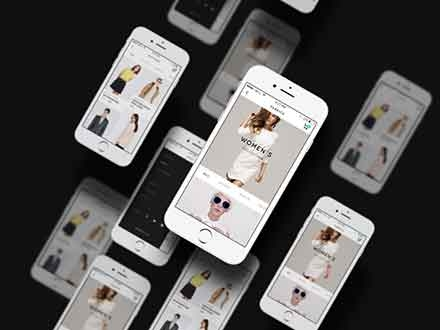 Multiple App Screen Showcase Mockup
