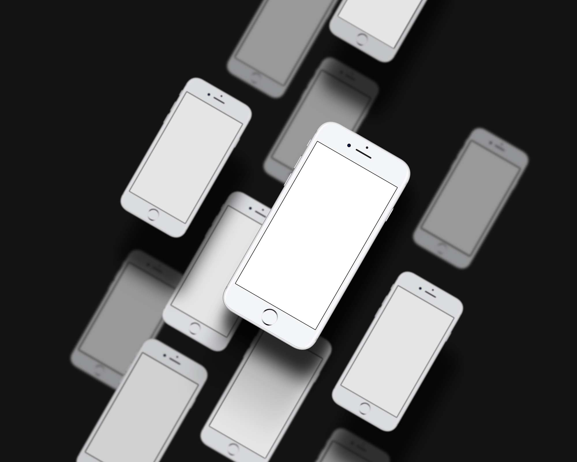 Multiple App Screen Showcase Mockup 2