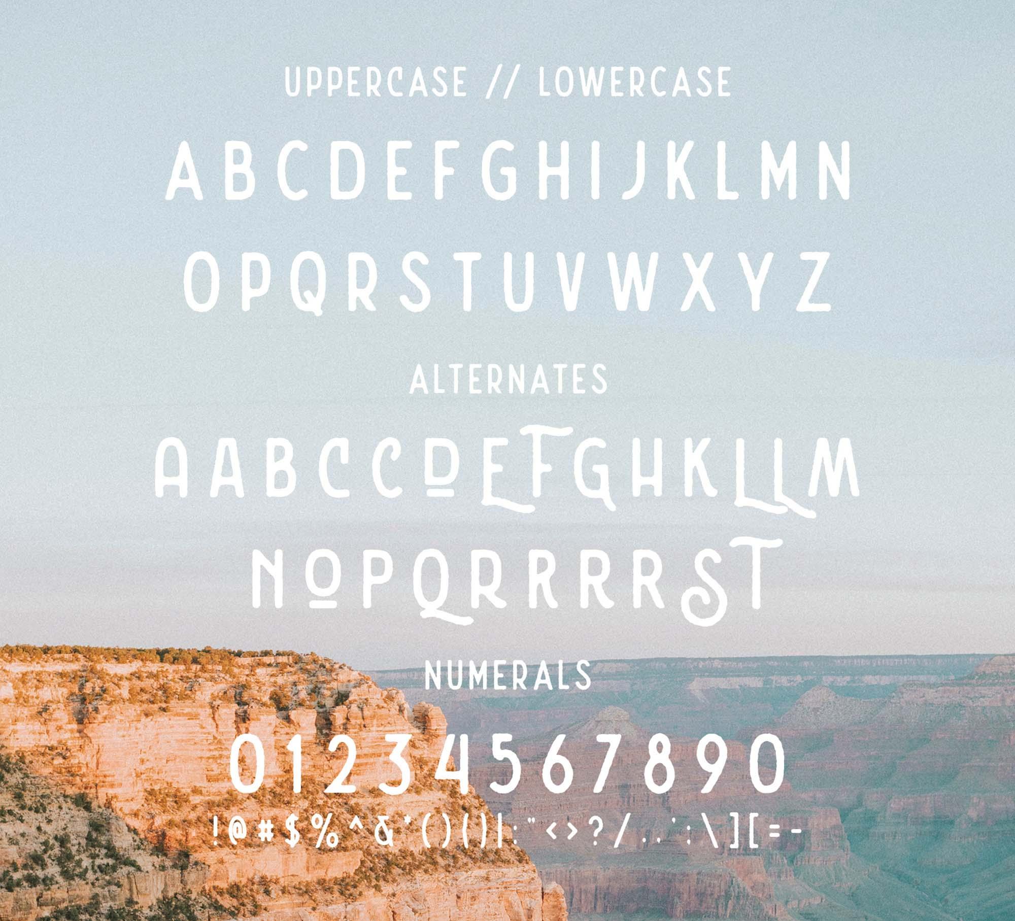 Nature Spirit Vintage Font Letters