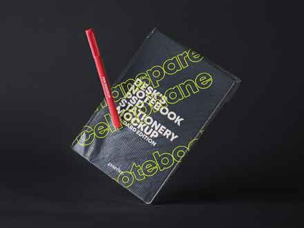 Notebook Transparent Cover Mockup
