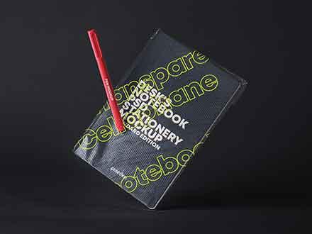 Notebook Transparent Cover Mockup
