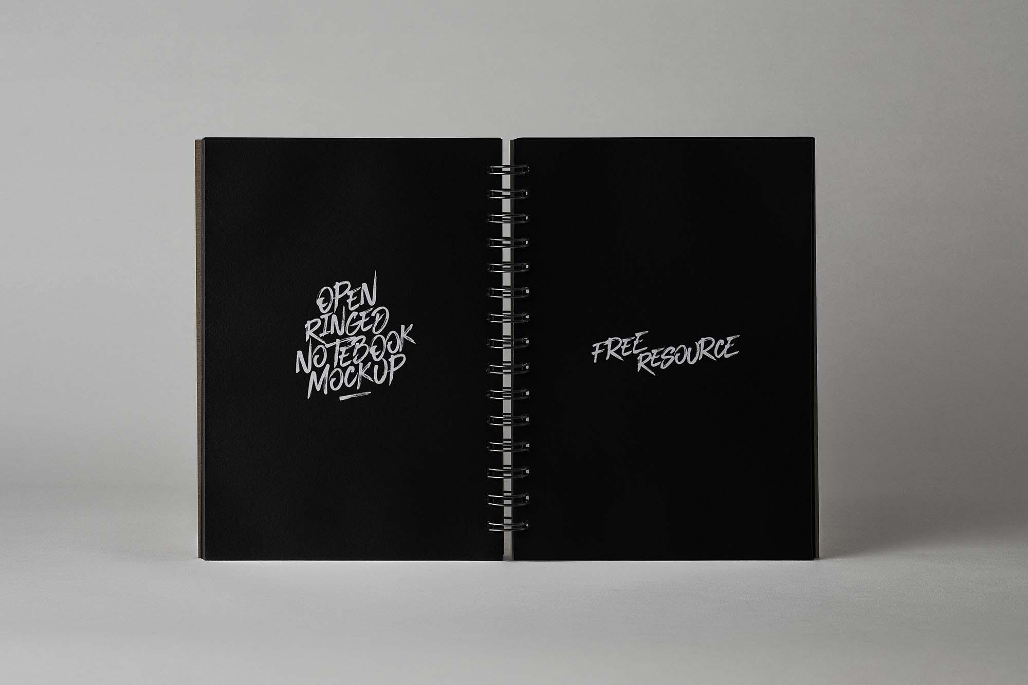 Open Ringed Sketchbook Mockup 2