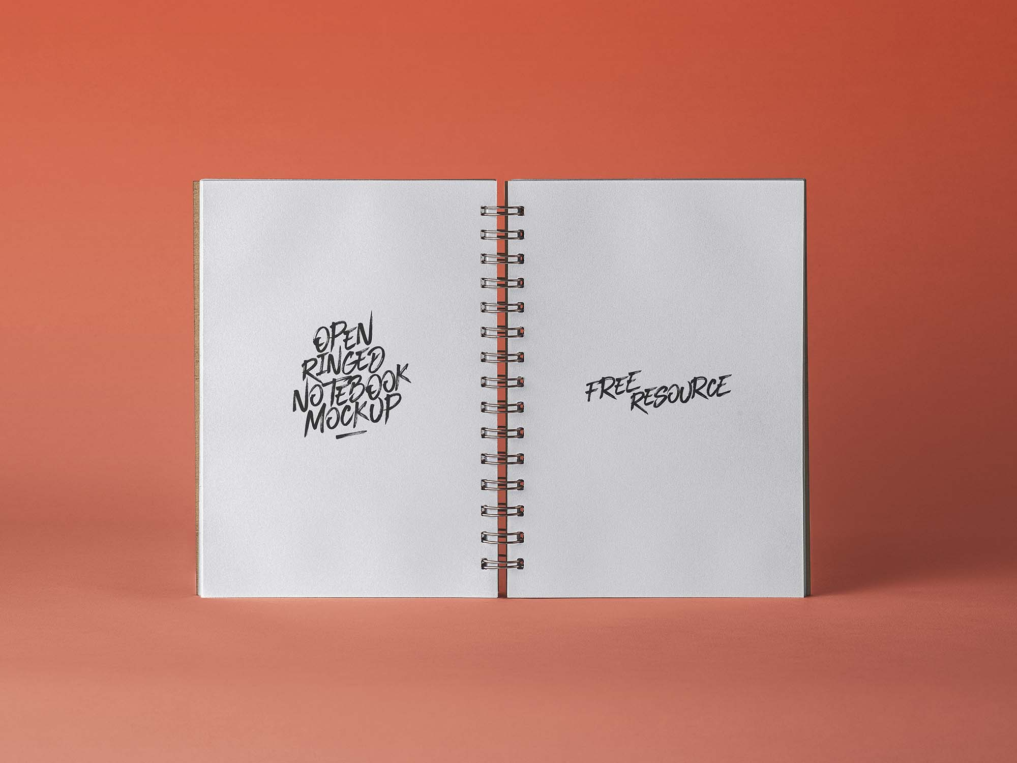 Open Ringed Sketchbook Mockup
