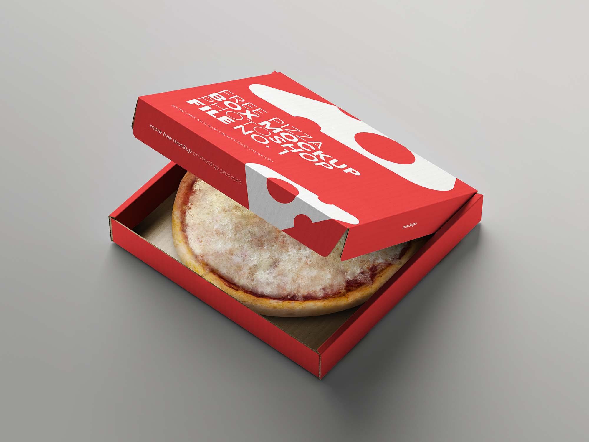 Opened Pizza Box Mockup 2