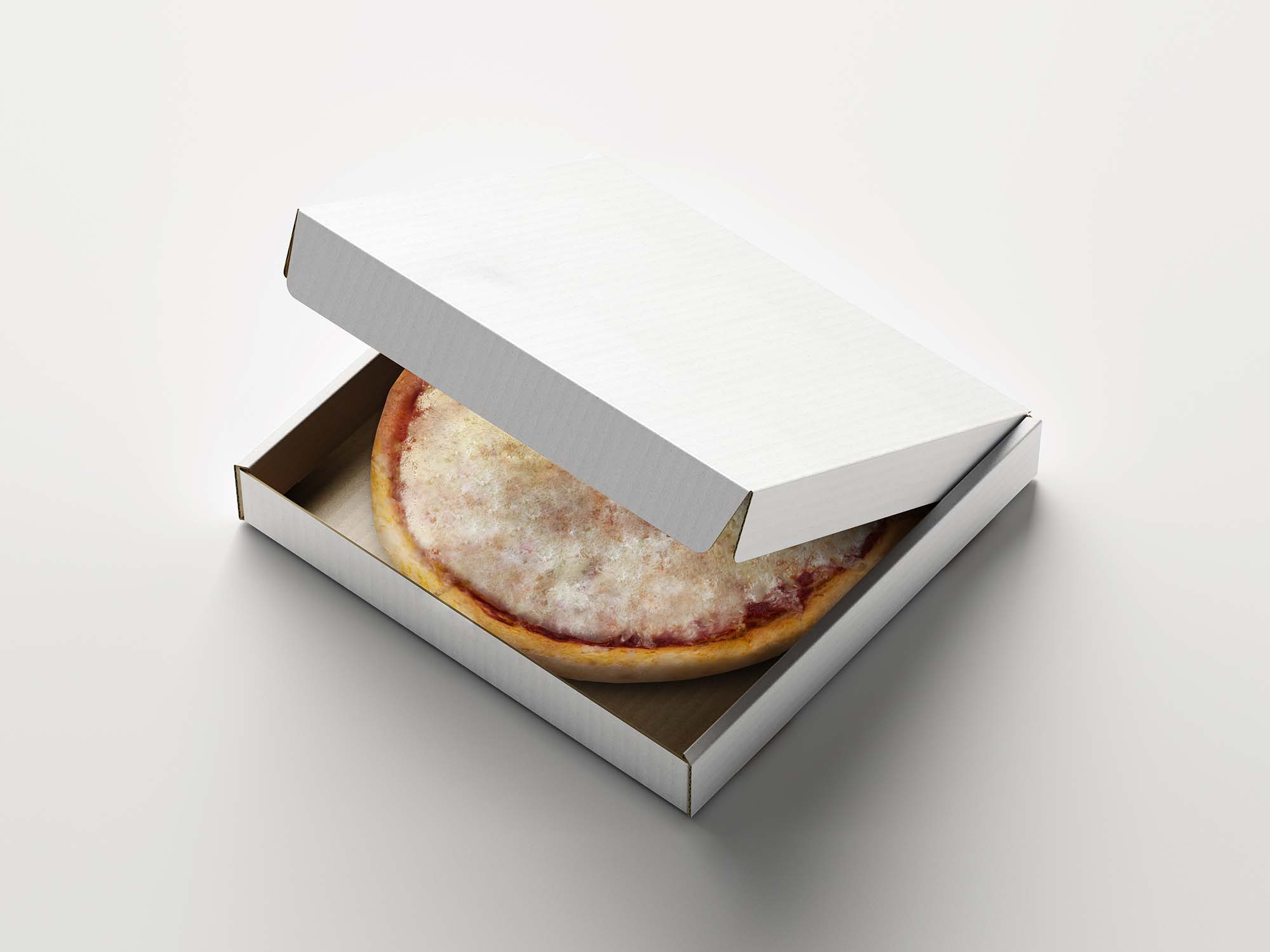 Opened Pizza Box Mockup 3