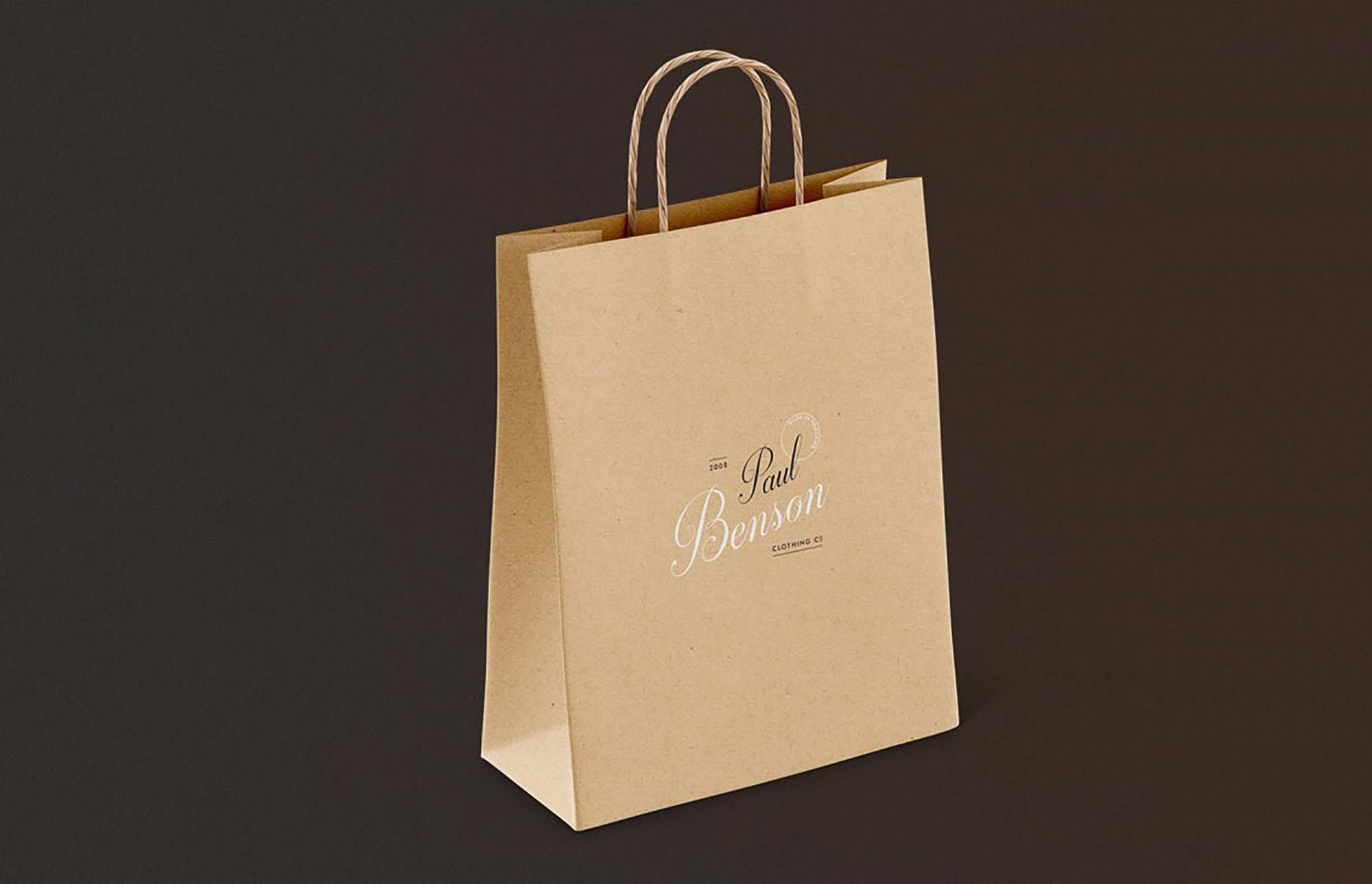 Free Paper Bag Mockup Set Psd