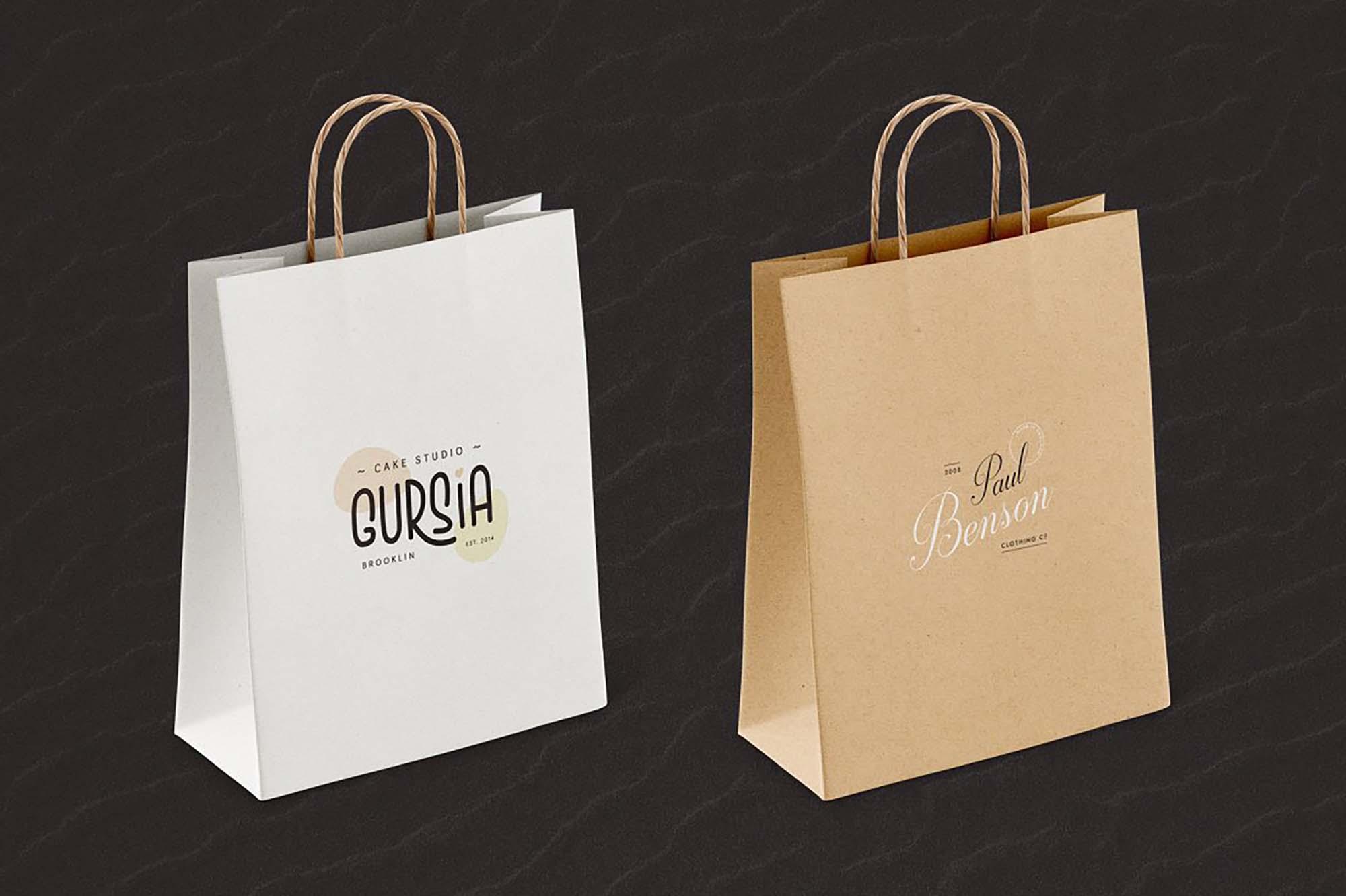 Paper Bag Mockup 3