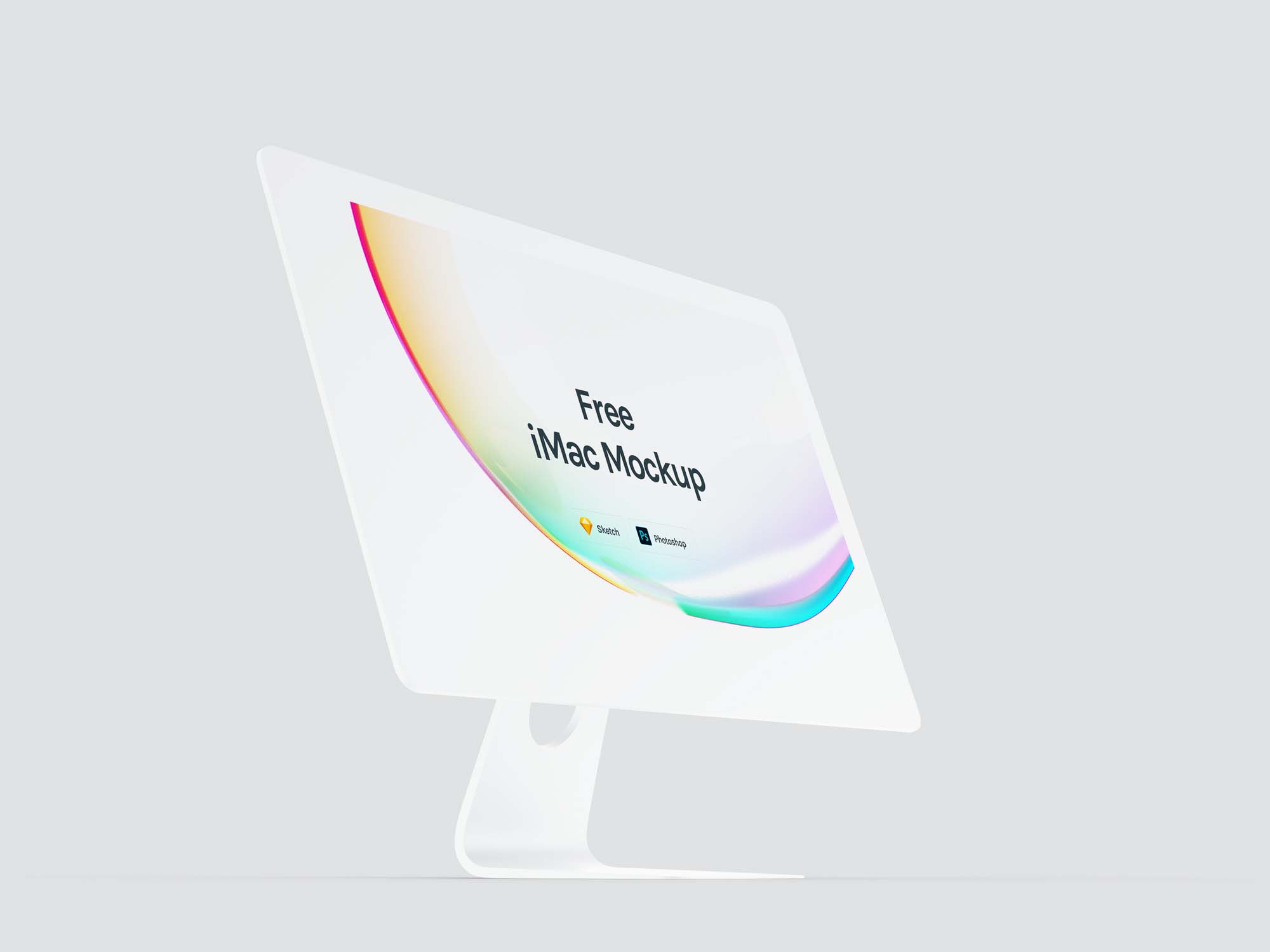 Perspective Apple iMac Mockup 2