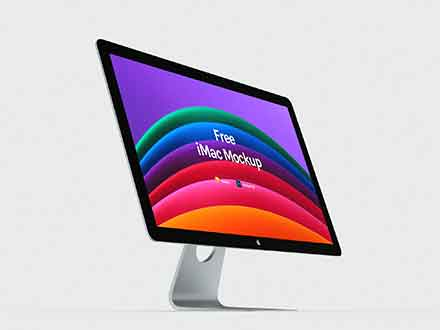 Perspective Apple iMac Mockup