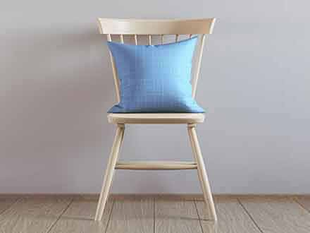 Pillow on Chair Mockup