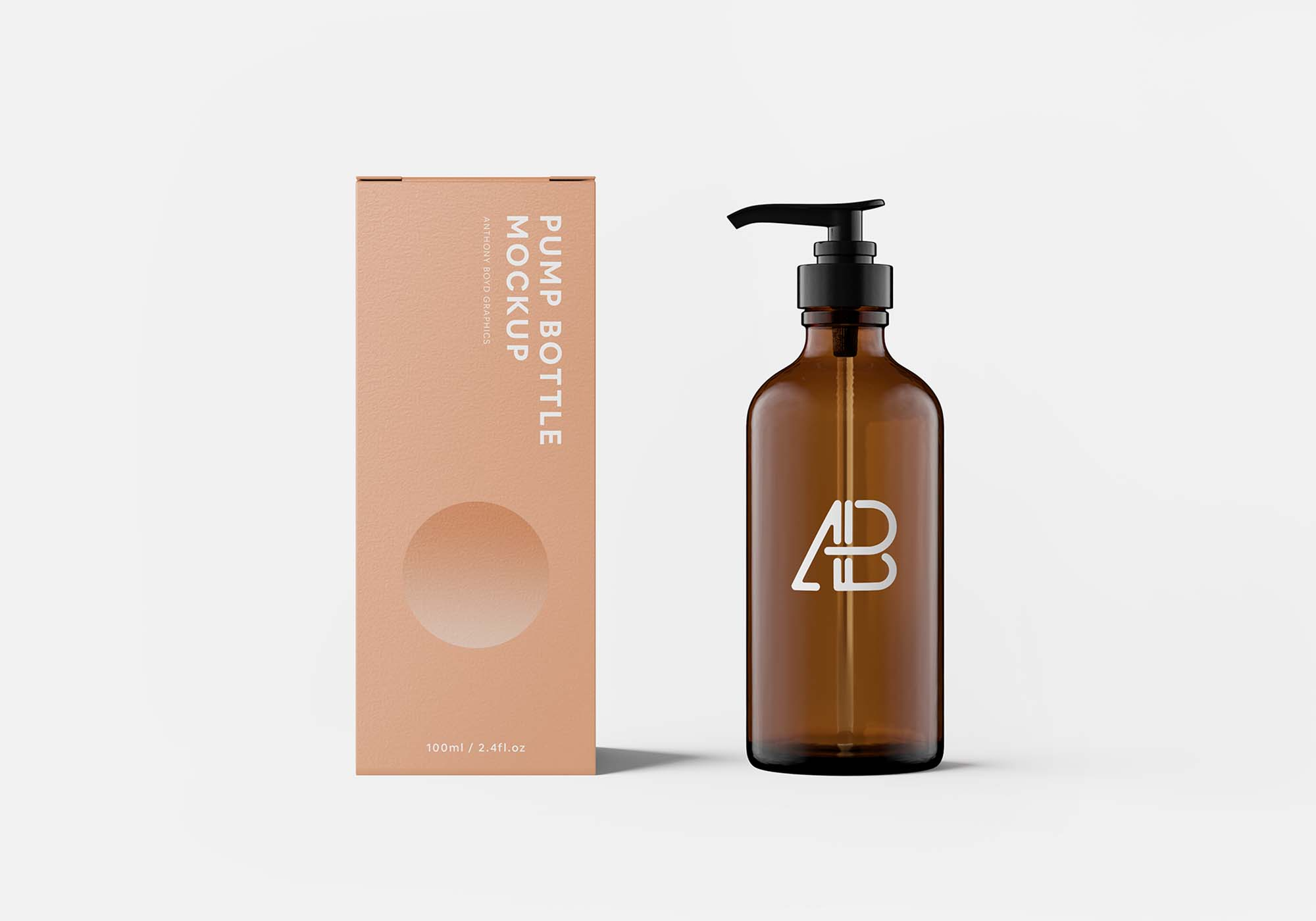 Pump Bottle With Box Mockup